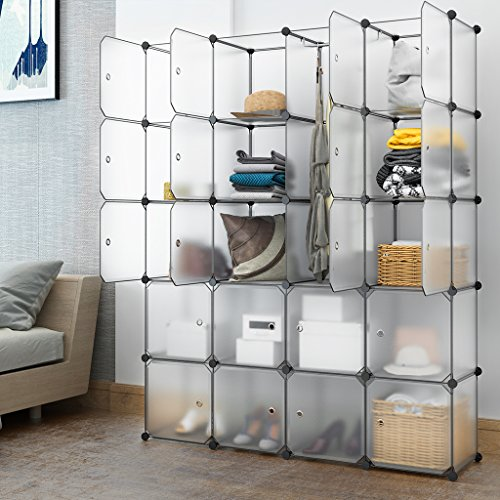 Langria 20 Cube Organizer Cubby Shelving Plastic Storage
