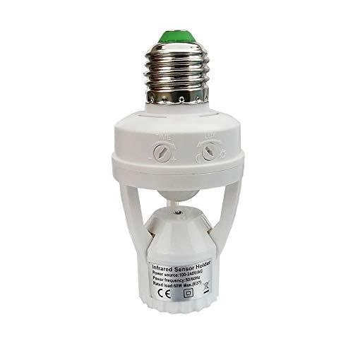 This Outside Motion Sensor Light Socket Device Turns On